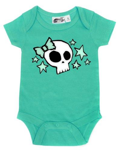 Skull & Stars Aqua One Piece 3-6 Months front-996370