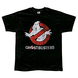 Ghostbusters Faded Logo To Go Black T-shirt tee