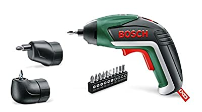 Bosch IXO Cordless Lithium-Ion Screwdriver with Right Angle Adapter and Easy Reach Adapter, 3.6 V Battery 1.5 Ah