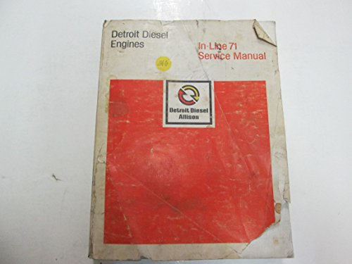 1983 Detroit Diesel In-line 71 Service Manual DAMAGED WEAR STAINS FACTORY OEM 83 (Detroit Diesel Service Manual compare prices)