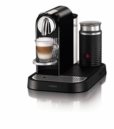 Nespresso D120 CitiZ Automatic Single-Serve Espresso Maker with Aeroccino Milk Frother (Limousine Black)