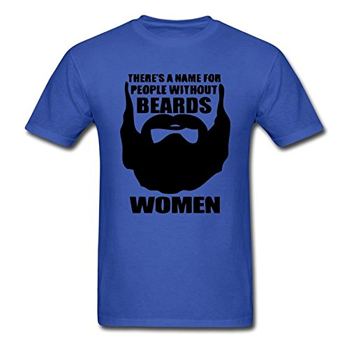 Kerner There Is A Name For People Without Beards Adult T-Shirt Tee Tee Blue