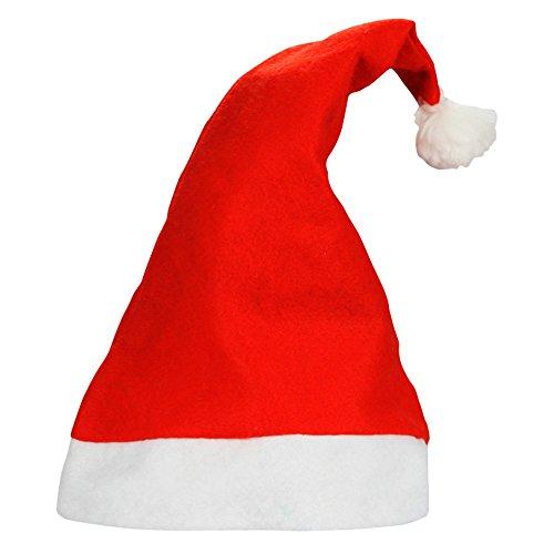 1 Dozen Traditional Santa Hats