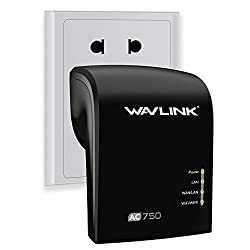 Wavlink AC750 Wifi Range Extender Access Point Wireless Repeater Dual Band (2.4GHz 150 Mbps+ 5Ghz 433Mbps) Wifi Booster Signal Amplifier -Black