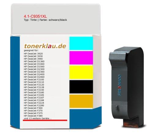 Tinte 4.1-C9351XL kompatibel zu HP C9351AE geeignet für: HP DeskJet 3920 / HP DeskJet 3930 / HP DeskJet 3940 / HP DeskJet D1360 / HP DeskJet D1460 / HP DeskJet D1560 / HP DeskJet D2300 / HP DeskJet D2360 / HP DeskJet D2400 / HP DeskJet D2 ... und weitere