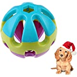 Alcoa Prime New Hot Funning Colorful ABS Cat Dog Puppy Happy Jingle Bell Ball Chewing Round Ball Toy Free Shipping...