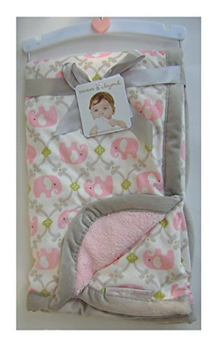 Blankets and Beyond Pink Elephant Baby Blanket - 1