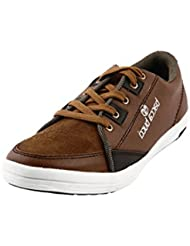 BACCA BUCCI MEN BROWN PU AND SUEDE CASUAL SHOES