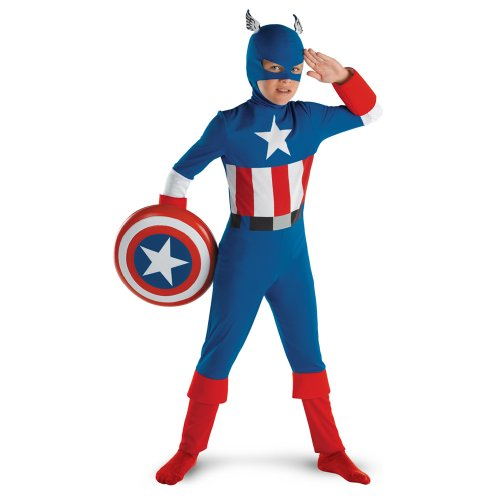 Captain America Classic - Size: Child L(10-12) (1940 Captain America compare prices)