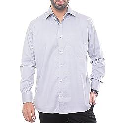 VinaraTrends Grey Color Cotton Shirt For Men