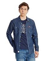 Lee Cooper Camisa Vaquera Charrisworth (Azul Oscuro)