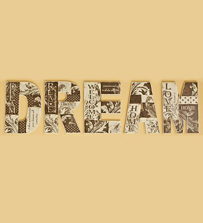 Dream Wooden Letters