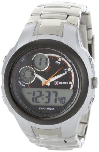 X Games Men's 75501 Analog-Digital Stainless Steel Band Sport Watch