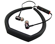 buy Sporty Bluetooth Earphones Sweatproof, The Gadget Wireless Bluetooth Stereo Earbud Headset With Mic & Volume Control For Sports & Running (Black)
