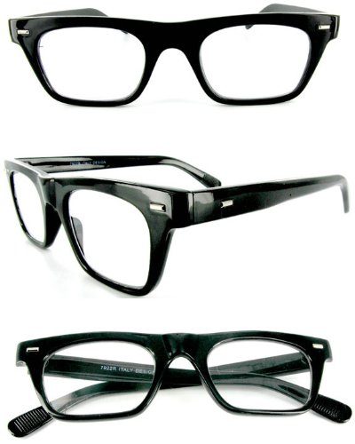 %22Wayfarer%22+Geek-Chic+designer+fashion+reading+glasses+for+youthful+men+who+read+in+style.+Black+2.50