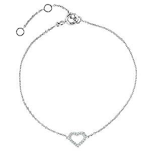 14K White Gold 0.06 CTW Diamond Heart 7