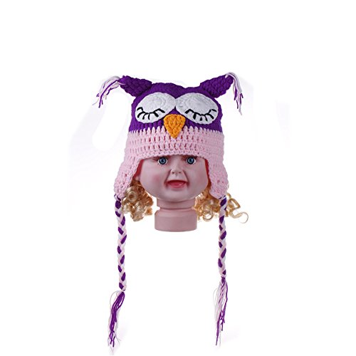 Elee Newborn Baby Crochet Knit Owl Hat Photography Props Costume Ear Flap Cap