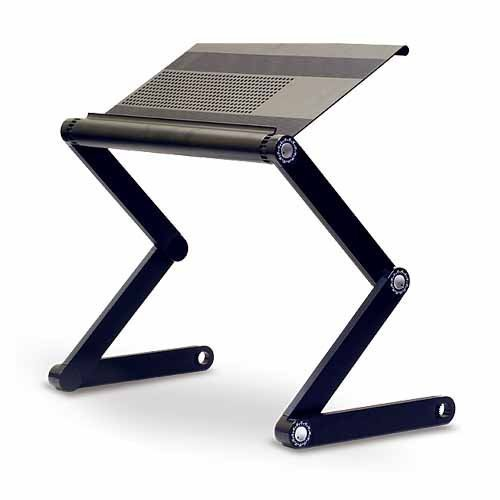 Adjustable Airvented Aluminium Laptop Notebook Table Stand / Portable Bed Desk
