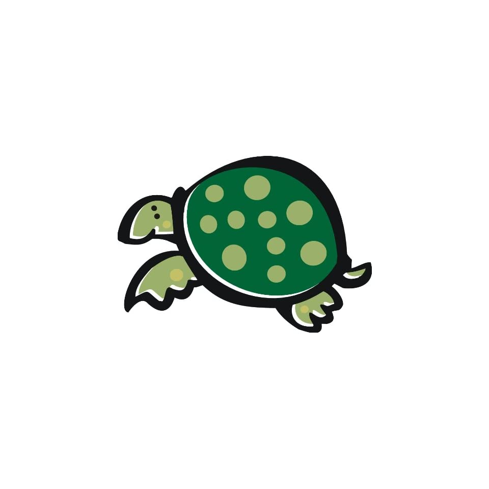 2 wide Green spotted turtle. Engineer Grade reflective printed vinyl decal sticker for any smooth surface such as windows bumpers laptops or any smooth surface.