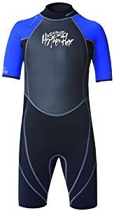 Hyperflex Wetsuits Children's Access Spring Suit,Black/Blue,6