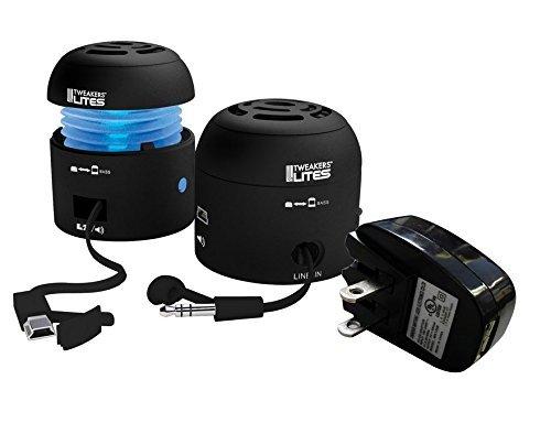 Tweakers Lites Portable Speakers With Wall Charger (Black) (Tweakers Portable Mini Speakers compare prices)