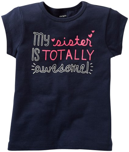 Carter'S Girls' Tee (Toddler/Kids) - Navy - 2T front-216444