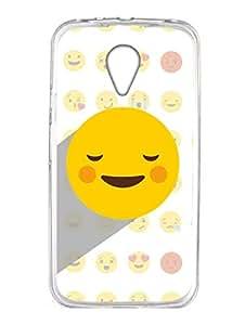 Moto G2 Back Cover - Whatsapp Emoji - You Make Me Blush - Designer Printed Hard Case with Transparent Sides
