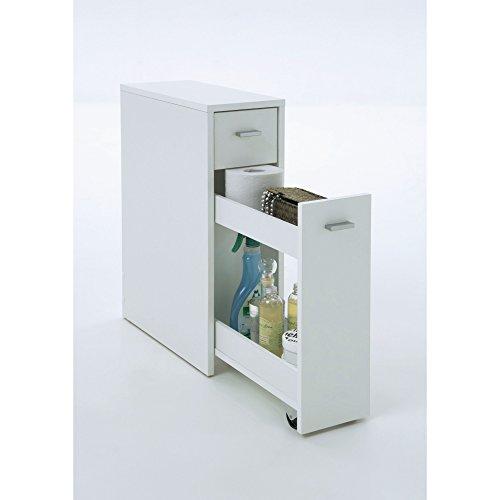 Schmaler-Badezimmerschrank-mit-Schublade-MDF-wei-ca-T45-x-B20-x-H61-cm