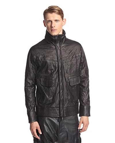 Alexandre Plokhov Men's Track Leather Jacket