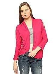 Vvoguish Viscose Pink Stylish Shrug-VVSHG903PNK-M