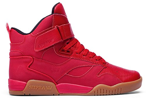 Supra Bleeker Shoes - Red / Gum-UK 12