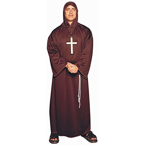Adult Men's Plus Size Monk Robe Costume (Size: XX-Large 44-48)