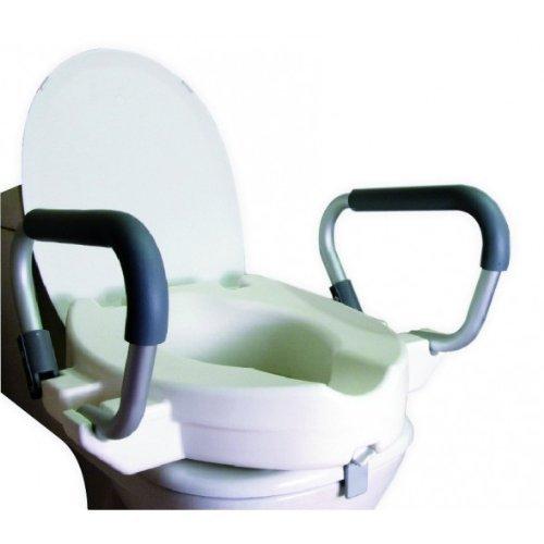 Rialzo per WC con coperchio e braccioli pieghevoli