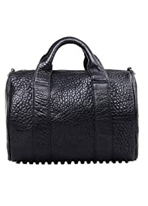celebrity style studded bottom duffel tote handbag black diaper tote bags baby. Black Bedroom Furniture Sets. Home Design Ideas