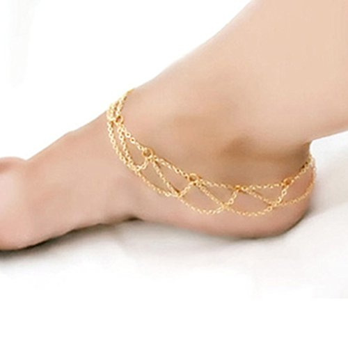 ELENXS Women Girls Metal Ankle Anklet Chain Bracelet