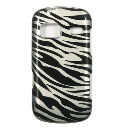 Silver Zebra Skin Hard Protector Case Phone Cover for LG Rumor Reflex