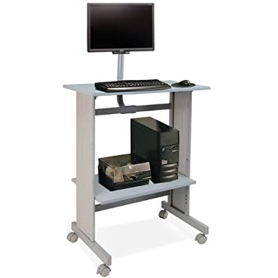 Buddy Products Space-Saving Fixed Height Workstation, 29W X 20D X 56H,