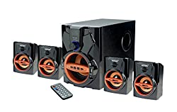 Vemax Curve 4.1 Speaker System with FM USB AUX (Copper & Black)