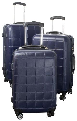 ABS-Kofferset 3tlg Athen indigo