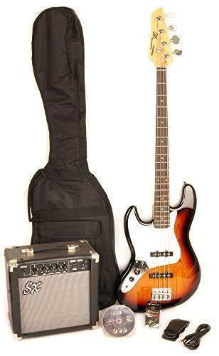 SX-Ursa-2-PK-RN-3TS-LH-Full-Size-Left-Handed-Sunburst-Bass-Guitar-Package-wAmp-Carry-Bag-Video-Instruction