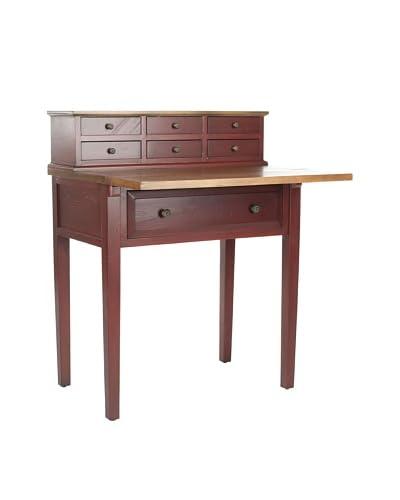 Safavieh Abigail Fold-Down Desk, Cherry/Oak