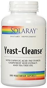 Solaray - Yeast Cleanse, 180 capsules