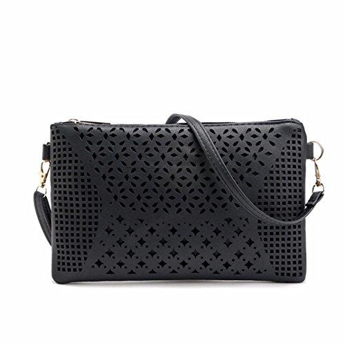 Kingko® Moda pacchetto borse a tracolla borse donna a tracolla Messenger Bag (Nero)