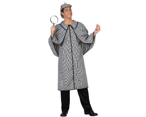 22921 - Detektiv Kostüm, Größe M-L, schwarz/weiß