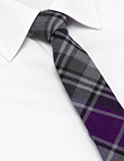 Limited Collection Pure Cotton Tartan Checked Tie