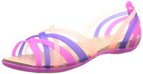 [クロックス] crocs Huarache Flat W 14121 5H7 (Vibrant Violet/Melon/W6)