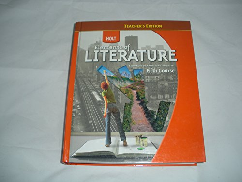Elements of Literature, Fifth Course, Teacher Edition