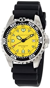 Momentum Men's 1M-DV00Y1B M1 Yellow Dial Black Rubber Dive Watch