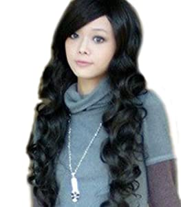 Sexy Long Wave Wig (Black) (Model: Jf010209)