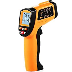 {Temperature Gun}Non-contact IR Infrared Digital Thermometer,LCD Display Laser Pointer Measurement Thermometer - -58 °F to 1652 °F (-50 °C to 900 °C),9V Battery Included (GM900)